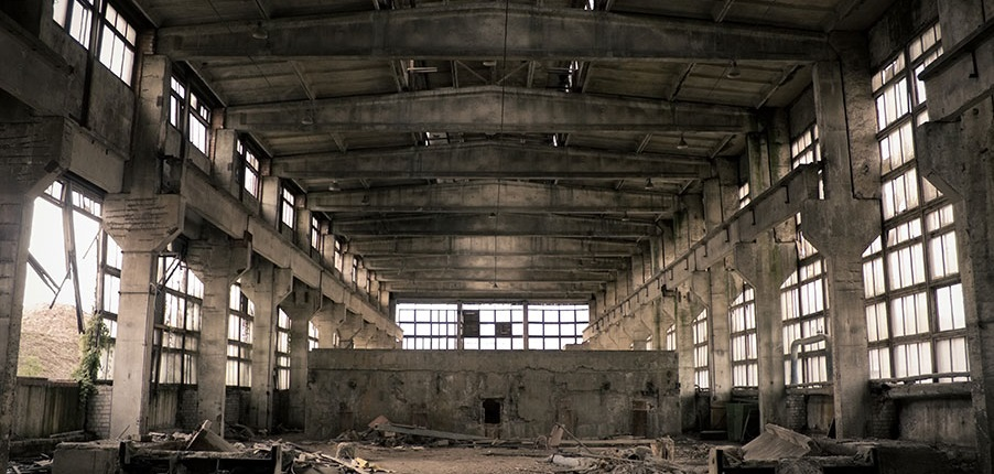 Lonely warehouse buildings