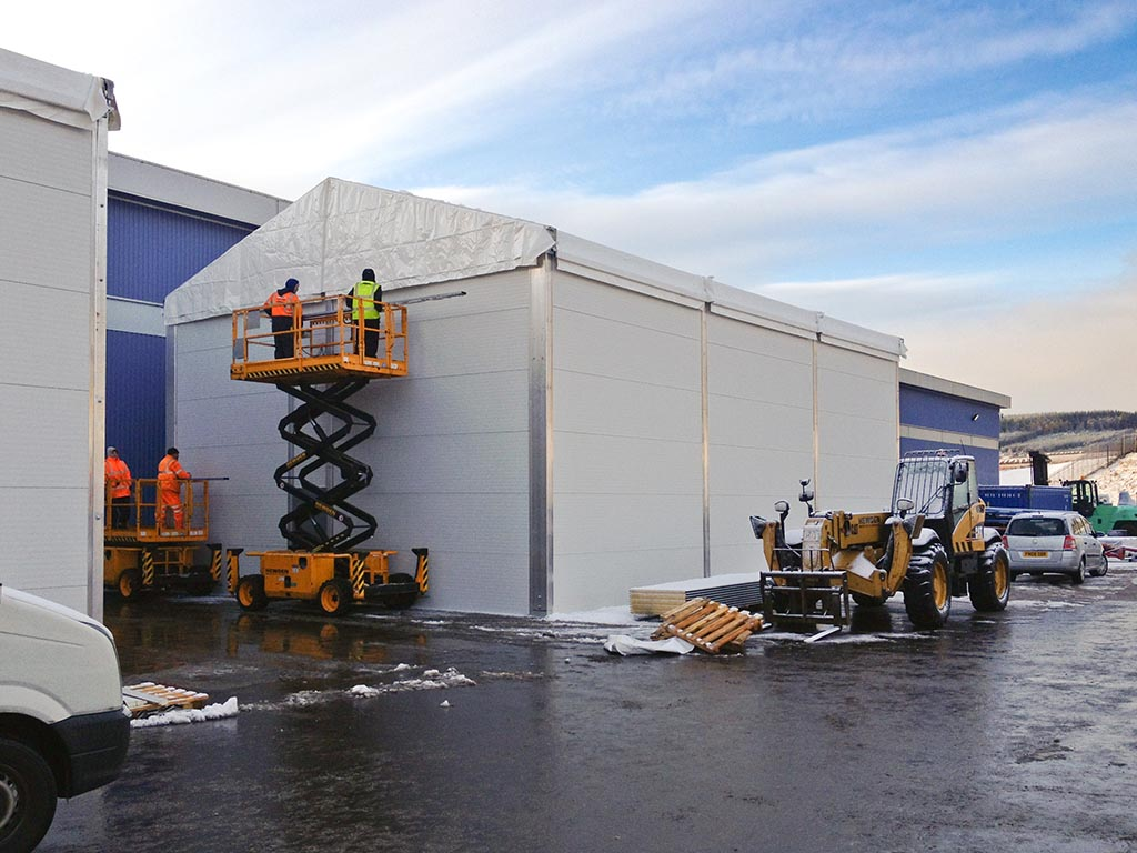 Are temporary buildings strong enough to cope?