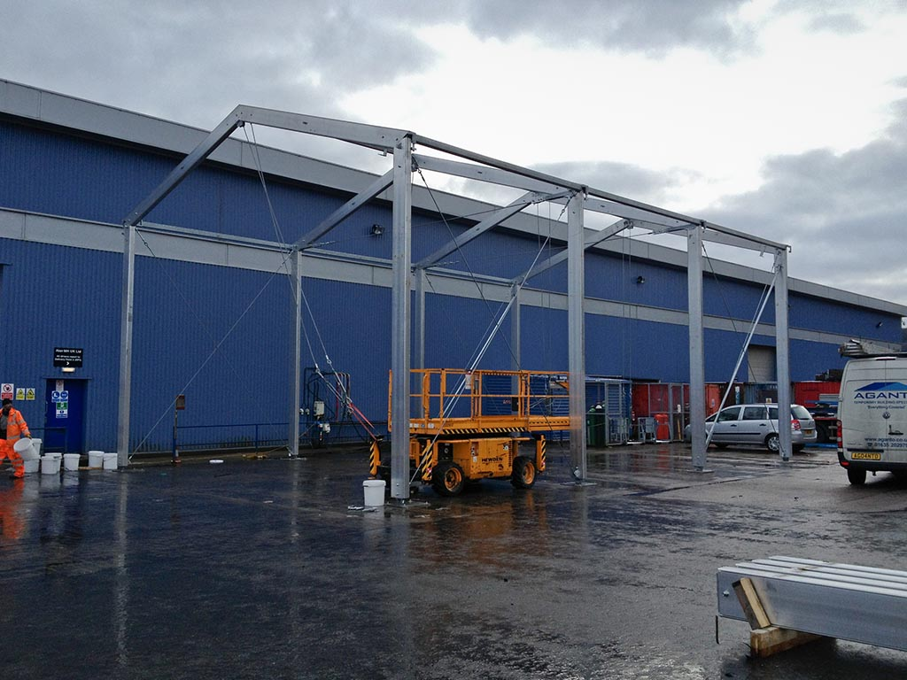 Industrial canopy project proves simple is often best