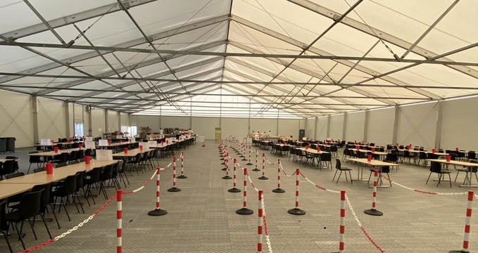 Temporary buildings and canopies to support Covid19 measures