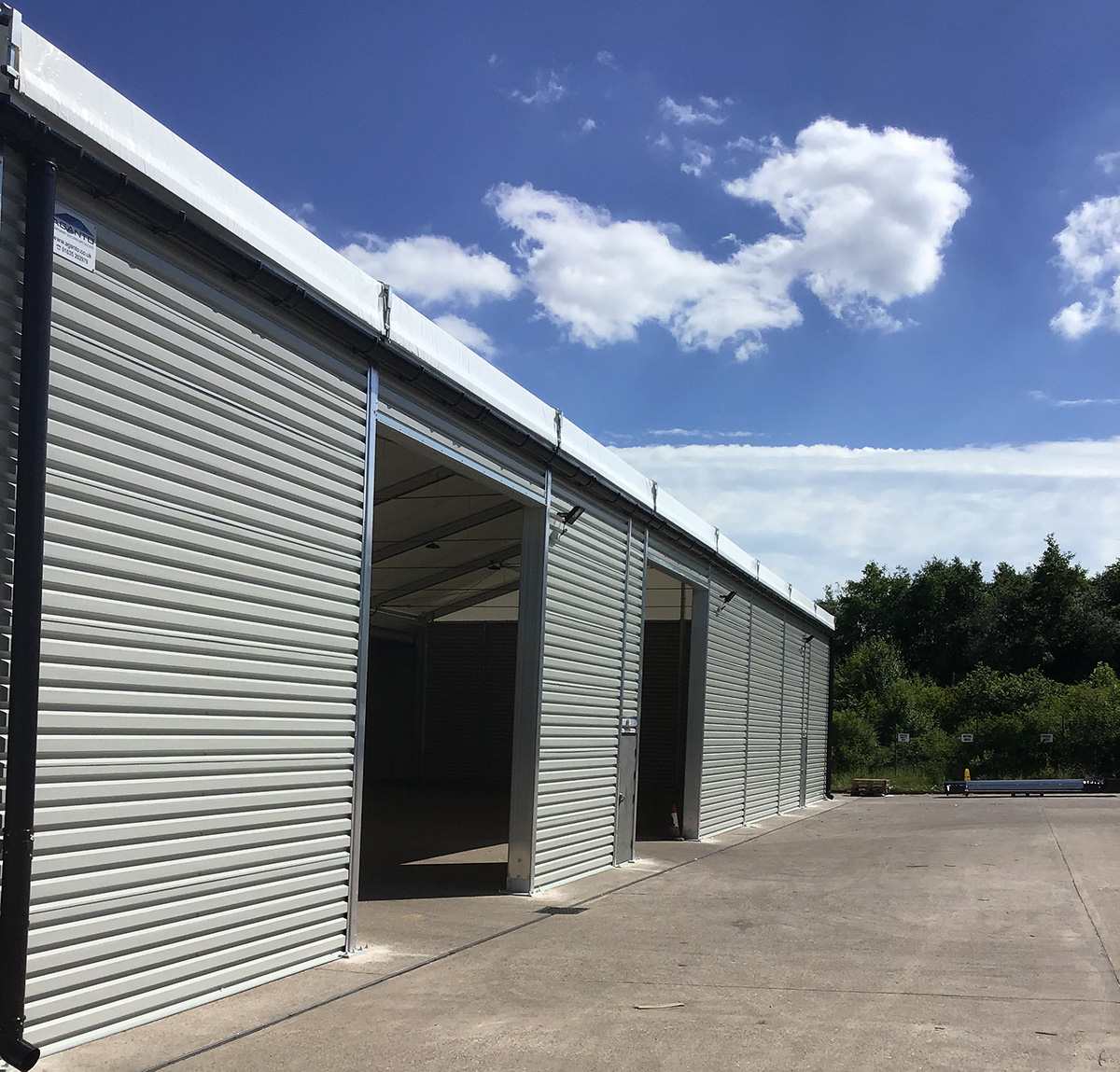 Increase your stock capacity with an Aganto temporary building